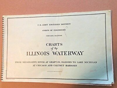 US Army Engineer District Charts of the Illinois Waterway