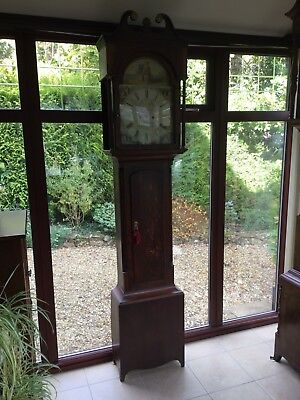 antique victorian oak Grandfather clock.