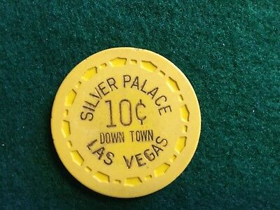 Silver Palace  -   Las Vegas 10 Cent   1961  ( N2169 ) Valued $75.00