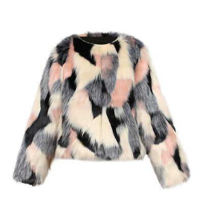 Girls Childs Kids Faux Fur Fluffy Furry Vintage Hairy Winter Jackets Coats 2-8Y