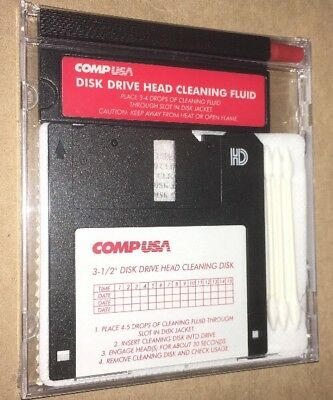 """COMPUSA Disk Drive Head Cleaning Disk. 3.5"""" Brand New Sealed"""