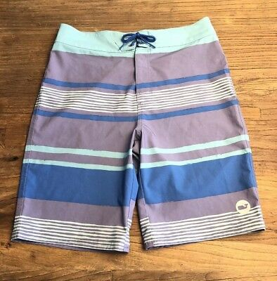 3722bd13dc VINEYARD VINES STRIPED Boys Board Shorts Swim Trunks Size M (12-14 ...