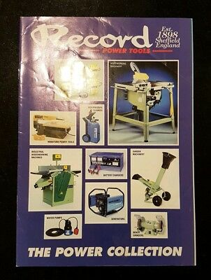 Vintage Record Power Tool The Power Collection Catalogue excellent condition