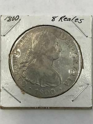 Uncertified 1800 Mexico Spanish Colony 8 Reales Coin.!!  NR.!!