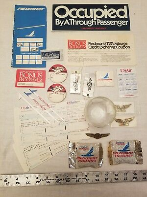 Piedmont Airlines Vintage Memorabilia Lot From Pre-US Air and US Airways