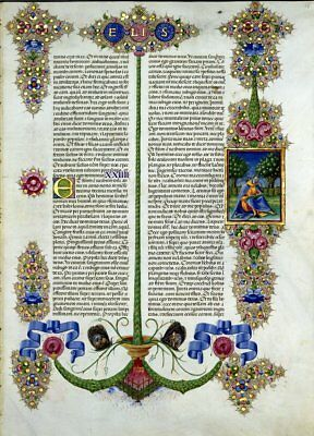 Bible of Borso d'Este ELIS  Illuminated Manuscript - Gold Accents NEW