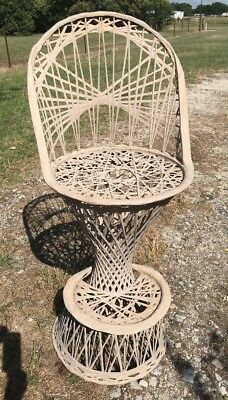 Vintage Single MCM  Russell Woodard Fiberglass Outdoor Patio Bar Stool Chair