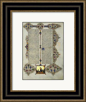 Bible of Borso d'Este LEVITE& GOD  Illuminated Manuscript - Gold Accents NEW
