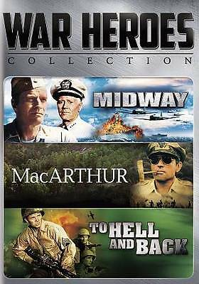 Midway, MacArthur, To Hell and Back - Triple Feature War Movies - New