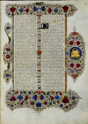 Bible of Borso d'Este Moses EXODUS ARK Illumin- Manuscript Gold Accents NEW