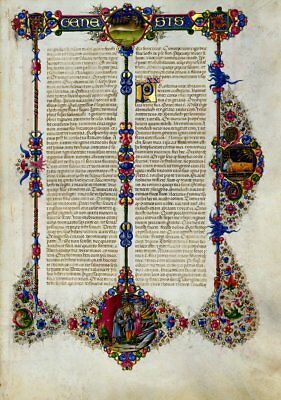 Illuminated Manuscript Genesis Bible Borso d'Este- GIFT set New