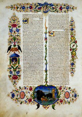 Illuminated Manuscript Genesis Bible Borso d'Este- GIFT COLLECTION  New