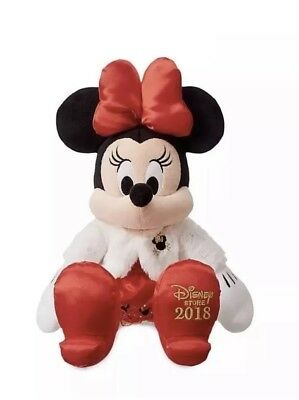 Disney 2018 Christmas Minnie Mouse Plush Soft Toy Dated