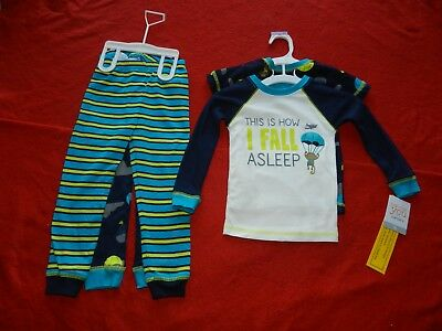 abf1a1b69031 CARTER S BOYS  TODDLER 4 Piece Monkey Print Pajama Set 2T New With ...
