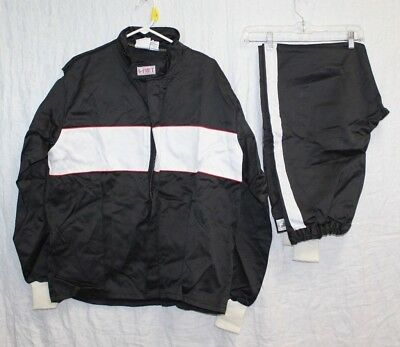 G-FORCE Racing Gear Suit Pants & Jacket black with white stripe Size X-LG NEW