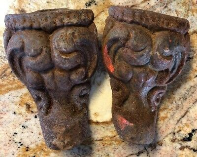 Nice Pair of Fancy Claw Foot Cast Iron Tub Feet, Very Detailed & Ornate, Salvage