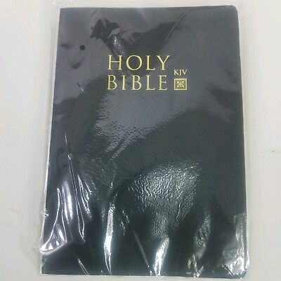 Bible, The Holy Bible King James Version Old New Testaments Black Sealed Plastic
