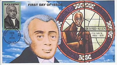 Jvc Cachets-2016 Richard Allen Issue First Day Cover Fdc Style #2 Black Heritage