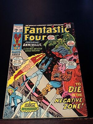 1971 FANTASTIC FOUR #109 appearance ANNIHILUS Avengers Very Fine VF+
