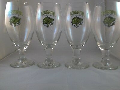 4 Terrapin  Brewing Co. Tall Tulip Beer  Glasses