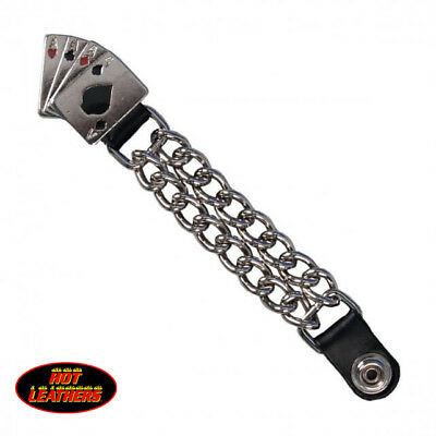"""Hot Leathers® 4 Aces Vest Extender 4"""" VXC1009 Made in USA Double Chain Leather"""