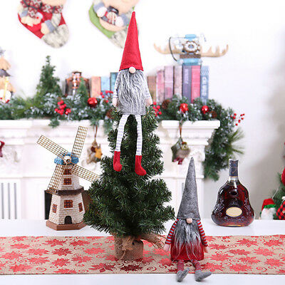 BU_ Charm Christmas Gnome Wine Bottle Cover Gift Wrap Xmas Dinner Party Decor In