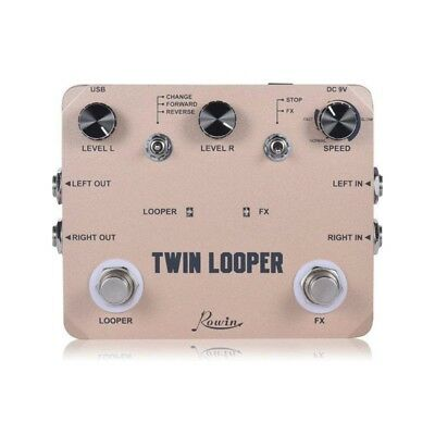 Rowin Twin Looper Station Electric Guitar Effect Pedal Loop Station for Guita W7