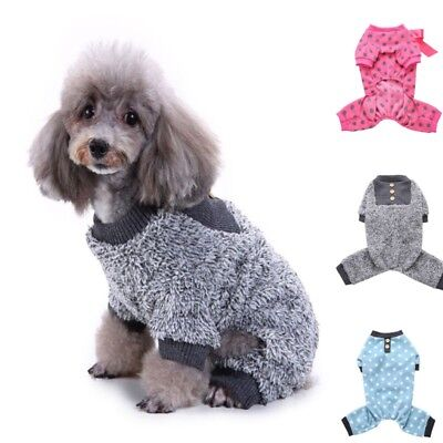 Pet Dog Cat Sweater Pajamas Jumpsuit Puppy Winter Warm Clothes Costume Apparel
