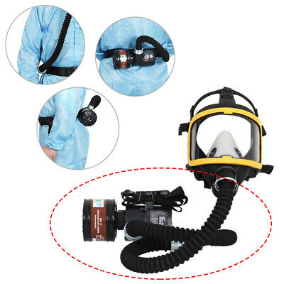 Electric Flow Supplied Air Fed Full Face Gas Mask Canister Respirator System