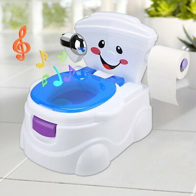 2 in 1 Baby Potty Toilet Training Trainer Chair Seat Kid Toddler Music Removable