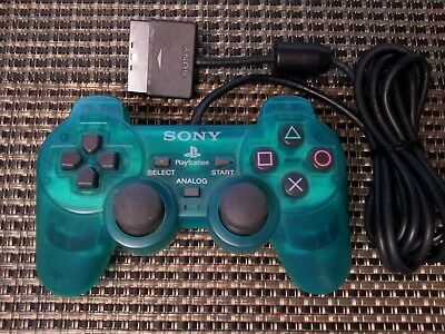 Official Sony PlayStation 2 PS2 Clear Green Dualshock 2 Controller Original OEM