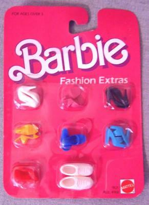 Vintage Barbie 1984 Fashion Extras SHOE PACK of 8 Pairs Shoes, NEW in Pkg.