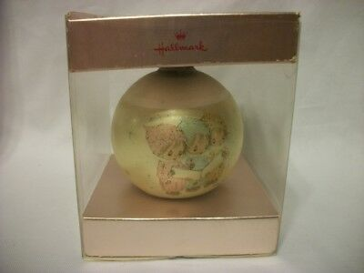 1975 Hallmark Betsey Clark CAROLING TRIO Glass Ball Christmas Ornament 3rd
