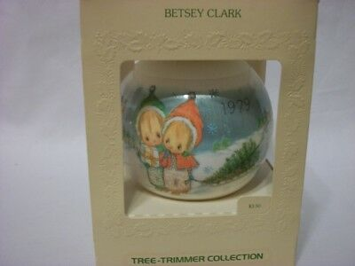 1979 Hallmark Betsey Clark HOLIDAY FUN Satin Ball Christmas Ornament 8th series