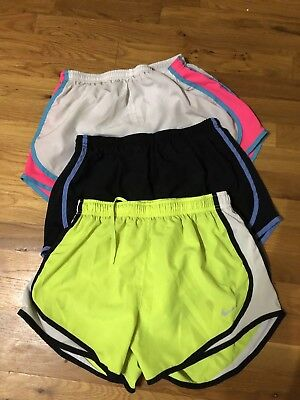 Lot of 3 Nike Dri Fit Tempo Lined Running Shorts Womens Size M