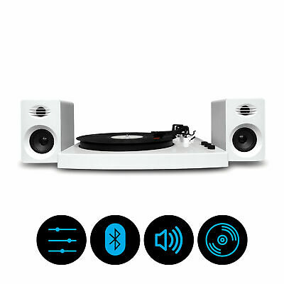 mbeat Pro-M Bluetooth Stereo Turntable System White MB-TR518W