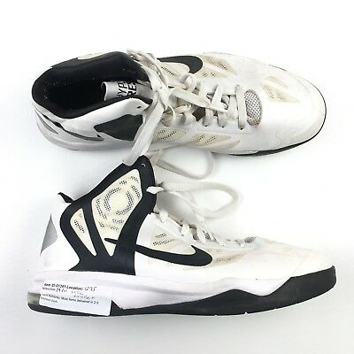 best service 7cf89 09177 Nike Mens White Black Synthetic Laces Hyperaggressor TB Shoes 10 EX DR01341