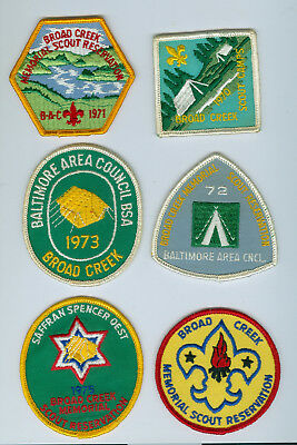 1970 to 1975 Broad Creek camp patches