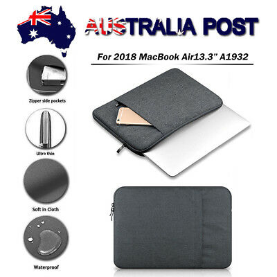 """Laptop Case Bag Soft Cover Sleeve Pouch For 2018 MacBook Air 13"""" A1932 Touch ID"""