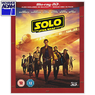 SOLO: A STAR WARS STORY Blu-ray 3D + 2D (REGION FREE) Slipcover Optional
