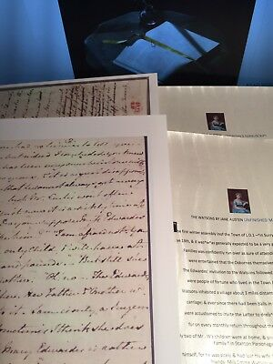 "Jane Austen ""The Watsons ""Hand Written"" & Printed Unfinished Manuscript NEW"