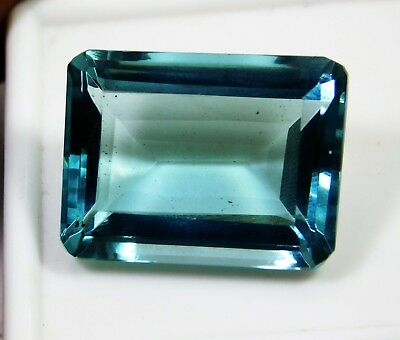 33.25 Cts Natural Genuine Aquamarine Emerald Cut Loose gemstone. 1855