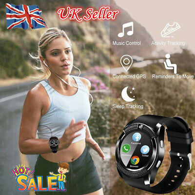 Waterproof V8 Smart Watch Bluetooth GSM Sim Phone Camera For Android/iOS NEW