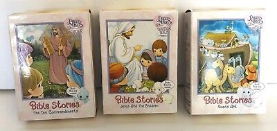 Precious Moments: Tender Tails by Enesco 3 Bible Story Lot w/ Plush Toys - VTG