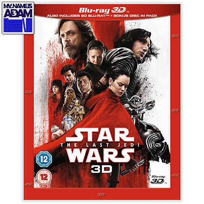 STAR WARS: THE LAST JEDI Blu-ray 3D + 2D (REGION-FREE)
