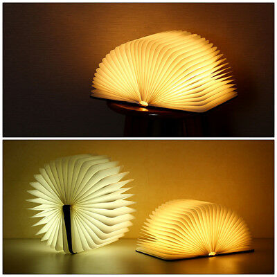Night Light Magnetic Rechargeable USB Folding Book Light Lamp LED Lumio Style B6