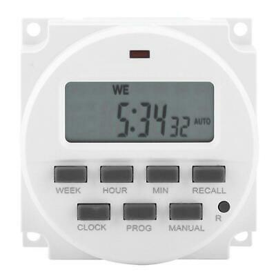 Digital LCD Relay Switch Weekly Programmable Electronic Time Timer 12V/110V/220V