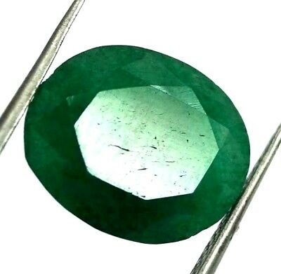 GGL Certified 6.60 Ct Natural Oval Cut Green Emerald Gemstone Hurry Now