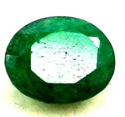 GGL Certified 4.10 Ct Natural Oval Cut Green Emerald Gemstone Hurry Now