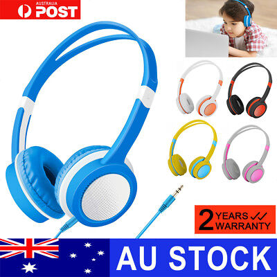 Kids Wired 85dB Safety Bass Stereo Wireless Headphone Headset with Mic Gift